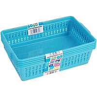 Small Handy baskets Assorted Pink, Blue, Lime 5Pk