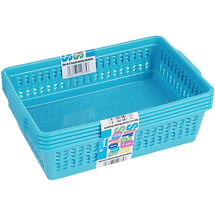 Image for Small Handy baskets Assorted Pink, Blue, Lime 5Pk from StoreName
