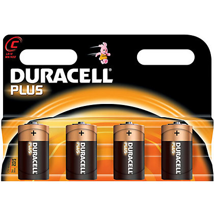 Image for Duracell Plus C Batteries - 4 Pack from StoreName