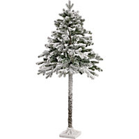 5ft Half Christmas Tree With Snow At Homebase Be