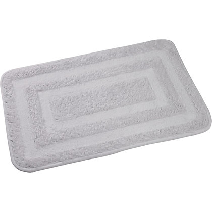 Image for Rubber Backed Bath Mat - White from StoreName