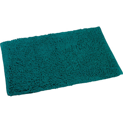 Image for Luxury Deep Pile Bath Mat - Aqua from StoreName
