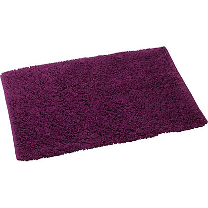Image for Luxury Deep Pile Bath Mat - Plum from StoreName