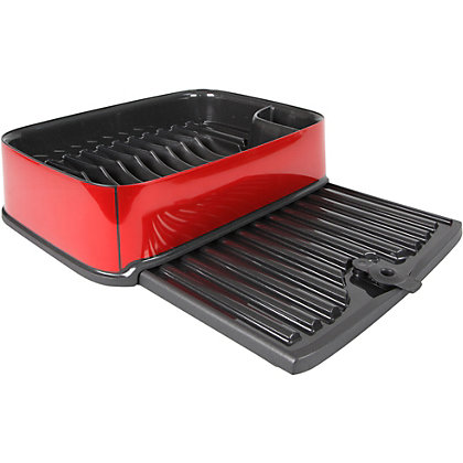 Image for Curver Urban Rectangular Dish Drainer - Red from StoreName