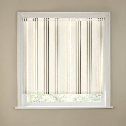 Image for Homebase Spectrum Stripe Neutral Roller Blind - 180cm from StoreName