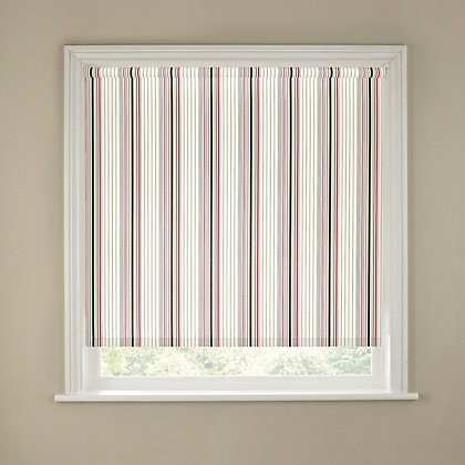 Image for Homebase Spectrum Stripe Red Roller Blind - 120cm from StoreName