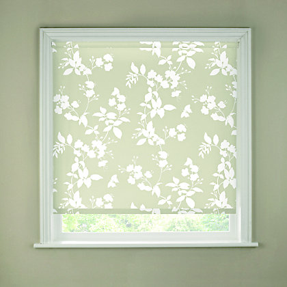 Image for Homebase Butterfly White Roller Blind - 60cm from StoreName