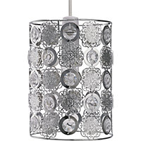 Moroccan Easy Fit Pendant - Clear Jewel and Metal