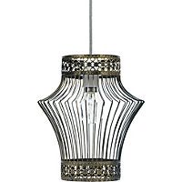 Antique Brass Cage Easy Fit Pendant