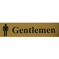 Gentlemen Toilet Sign - Black and Gold