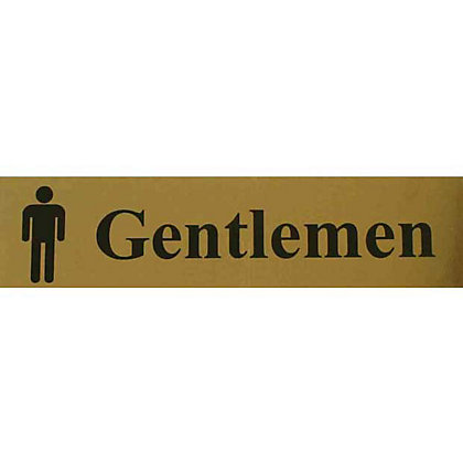 Image for Gentlemen Toilet Sign - Black and Gold from StoreName