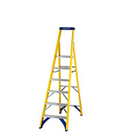 Werner Fibreglass 6 Tread Platform Stepladder