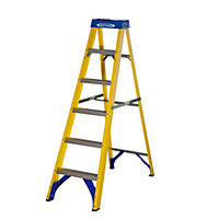 Werner Fibreglass Swingback 6 Tread Stepladder