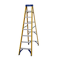 Werner Fibreglass Swingback 8 Tread Stepladder