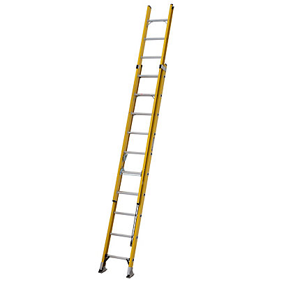 Image for ALFLO 3.1m Fibreglass Trade Double Extension Ladder - 150kg from StoreName