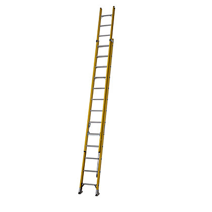 Image for ALFLO 3.9m Fibreglass Trade Double Extension Ladder - 150kg from StoreName