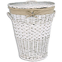 Willow Laundry Bin - White