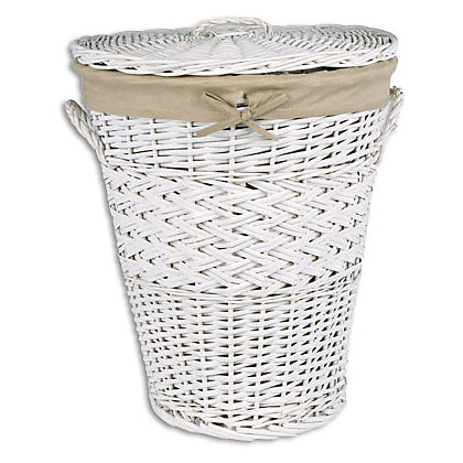 Image for Willow Laundry Bin - White from StoreName