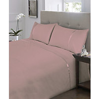 Percale Lilac Fitted Sheet - Double
