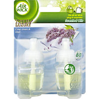 Air Wick Touch Of Luxury Plug In Refill Crisp Linen And Lilac