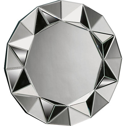 Image for Home of Style Round Faceted Starburst Mirror from StoreName