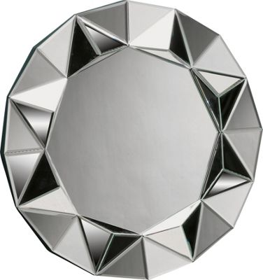 Home of Style Round Faceted Starburst Mirror