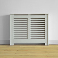 Virginia Radiator Cabinet Smooth White - (W)100.6 x (H)83.8 x (D)20.3cm