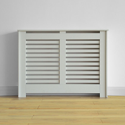 Image for Virginia Radiator Cabinet Smooth White - (W)117.6 x (H)87.8 x (D)20.3cm from StoreName