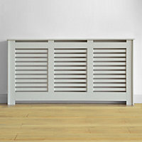 Virginia Radiator Cabinet Smooth White - (W)170.5 x (H)87.8 x (D)20.3cm