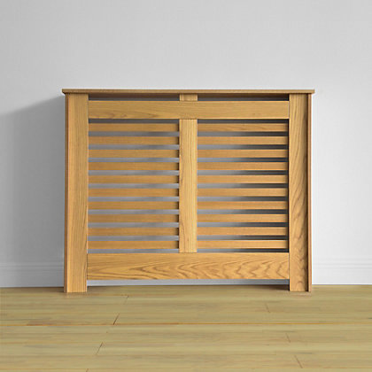 Image for Virginia Radiator Cabinet - Oak Veneer - (W)100.6 x (H)83.8 x (D)20.3cm from StoreName