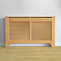 Richmond Radiator Cabinet Oak Veneer - (W)150 x (H)90 x (D)20cm