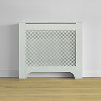 Richmond Radiator Cabinet Smooth White - (W)100 x (H)85 x (D)20cm