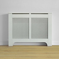 Richmond Radiator Cabinet Smooth White - (W)120 x (H)90 x (D)20cm