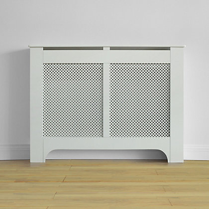 Image for Richmond Radiator Cabinet Smooth - White - (W)120 x (H)90 x (D)20cm from StoreName
