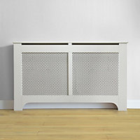 Richmond Radiator Cabinet Smooth White - (W)150 x (H)90 x (D)20cm