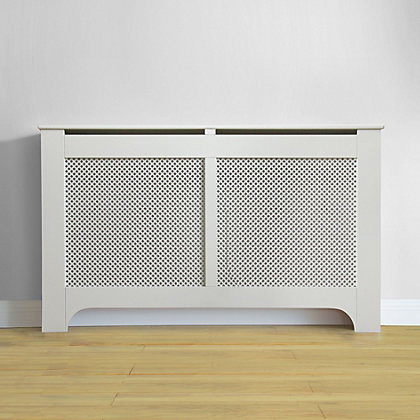 Image for Richmond Radiator Cabinet - Smooth White - (W)150 x (H)90 x (D)20cm from StoreName