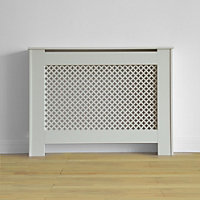 Oxford Radiator Cabinet Smooth White - (W)110 x (H)81.5 x (D)19cm