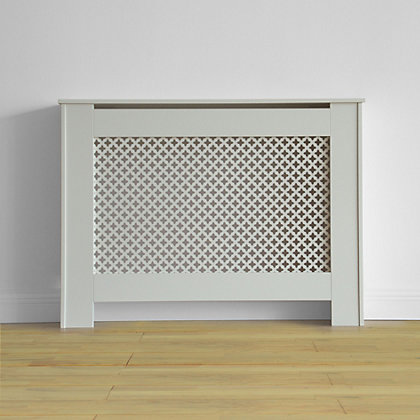 Image for Oxford Radiator Cabinet - Smooth White - (W)110 x (H)81.5 x (D)19cm from StoreName