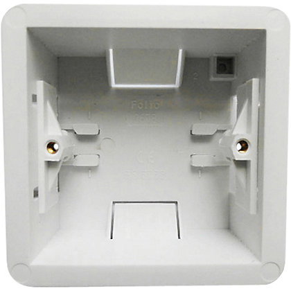 Image for 1 Gang 35mm Cavity Wall (Dry Lining) Box - White from StoreName