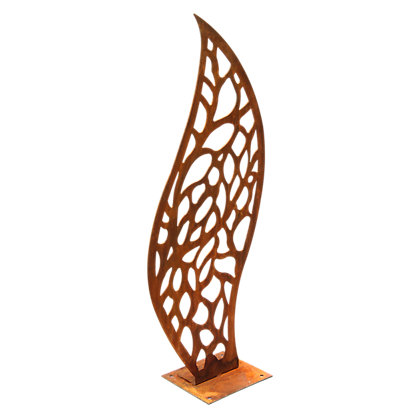 Image for Rusted Steel Decorative Flame Garden Screen - Pattern from StoreName