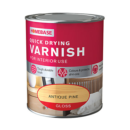 Image for Homebase Quickdry Varnish Gloss Antique Pine - 250ml from StoreName