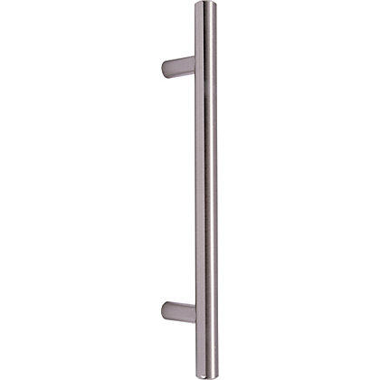 Image for Contemporary T-Bar Door Handle - Satin Nickel from StoreName