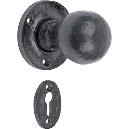 Image for Mortice Knob - Black - 2 Pack from StoreName