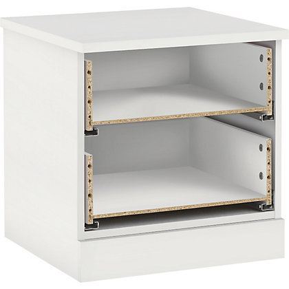 Image for Hygena 2 Drawer Bedside Chest - White from StoreName