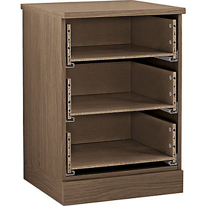 Image for Hygena 3 Drawer Narrow Chest - Walnut from StoreName