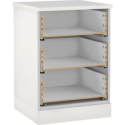 Image for Hygena 3 Drawer Narrow Chest - White from StoreName