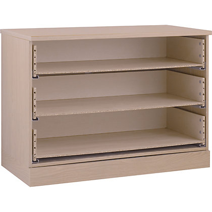 Image for Hygena 3 Drawer Wide Chest - Oak from StoreName