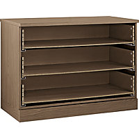 Hygena 3 Drawer Wide Chest - Walnut