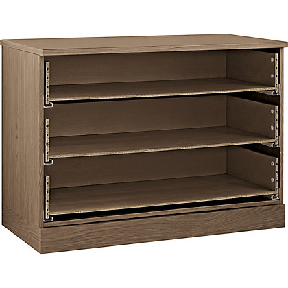 Image for Hygena 3 Drawer Wide Chest - Walnut from StoreName