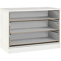 Hygena 3 Drawer Wide Chest - White